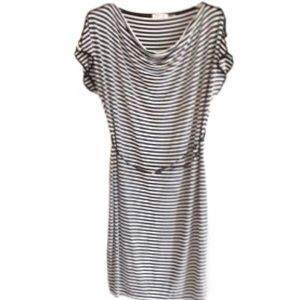 Calvin Klein Striped Midi Dress with Pockets 12